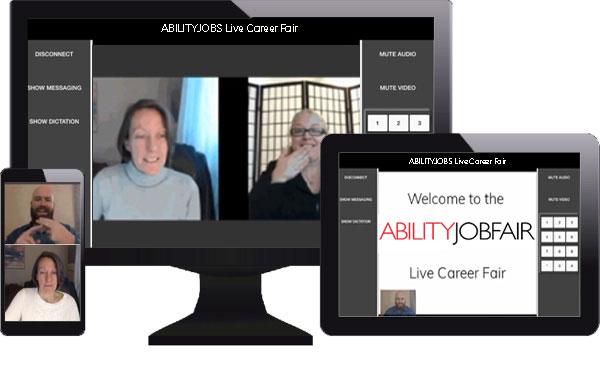 ABILITYJOBS.ORG- career fair screens